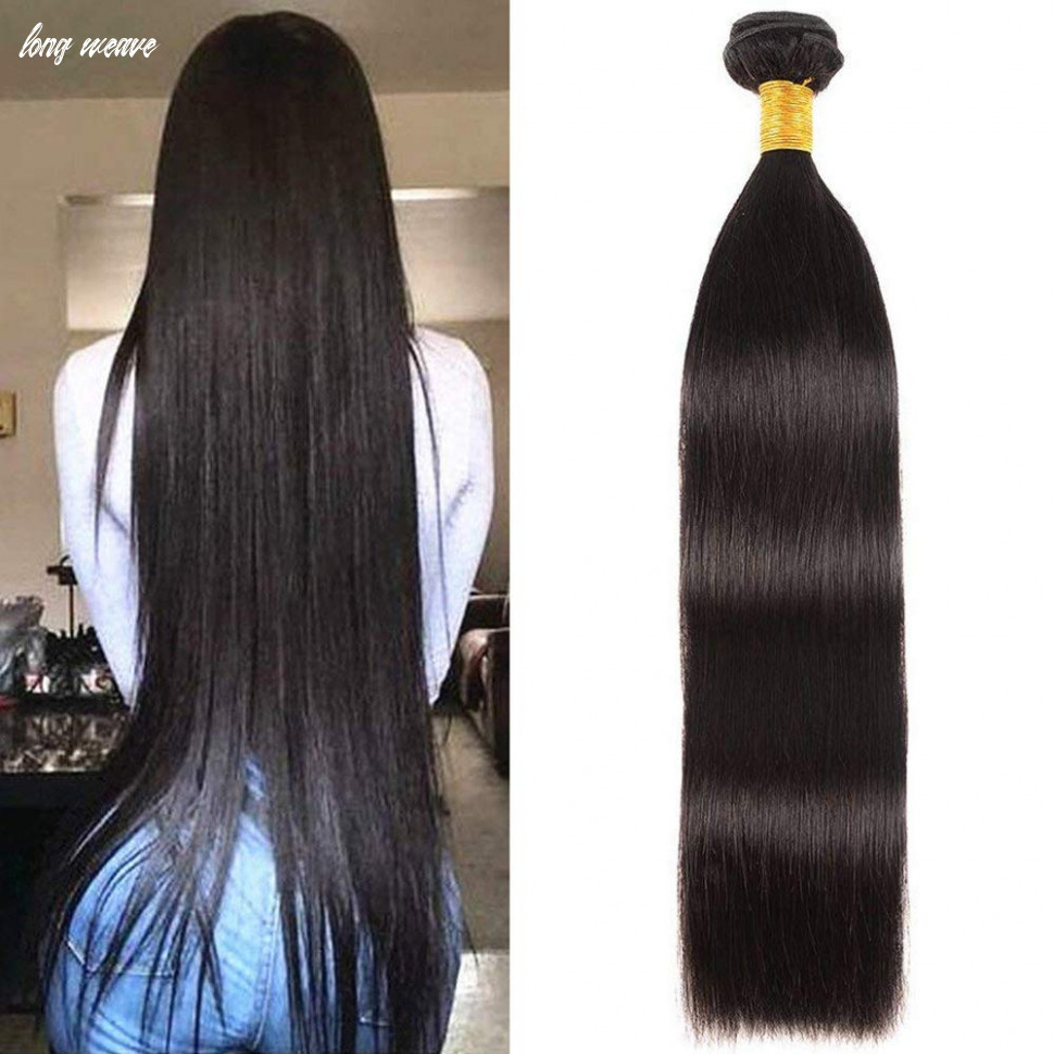 Amazon.com : NEWNESS Indian Hair Straight Long Weave 8Inch 8A ...