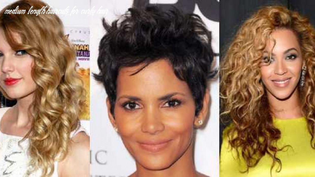 Best 10 Medium Length Hairstyles For Curly Hair On Round Face ...