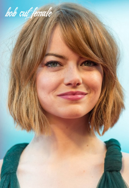 Emma-Stone-Short-Bob-Haircut-with-Bangs-for-Women - Hairstyles Weekly