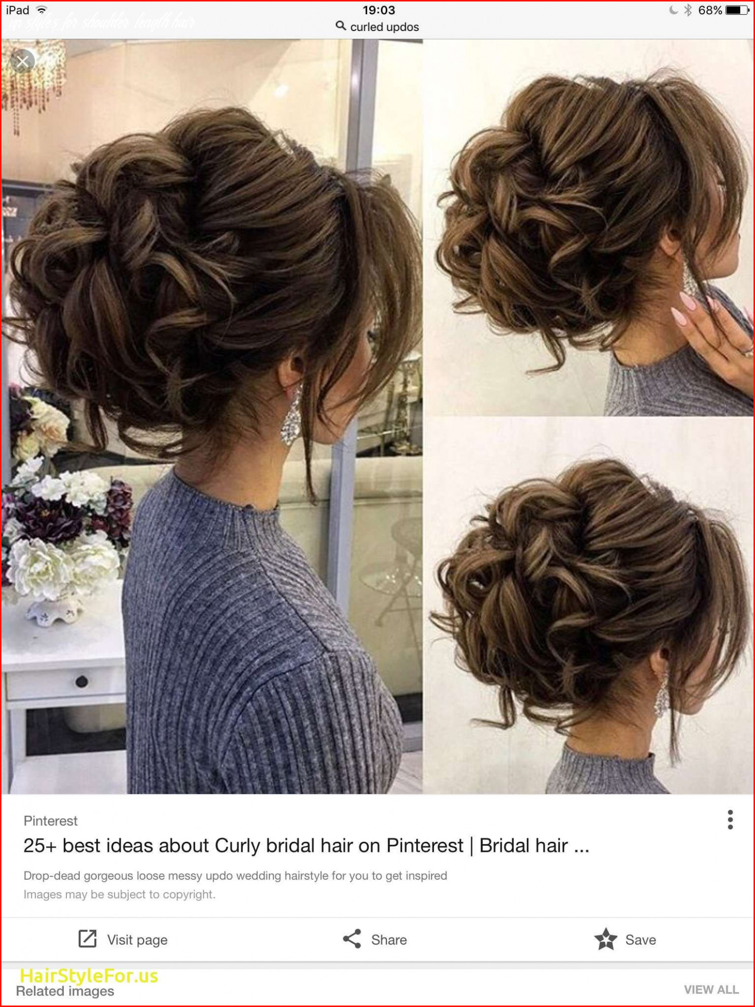 Unique Shoulder Length Updo Hairstyles Photos Of Updos Hairstyles ...