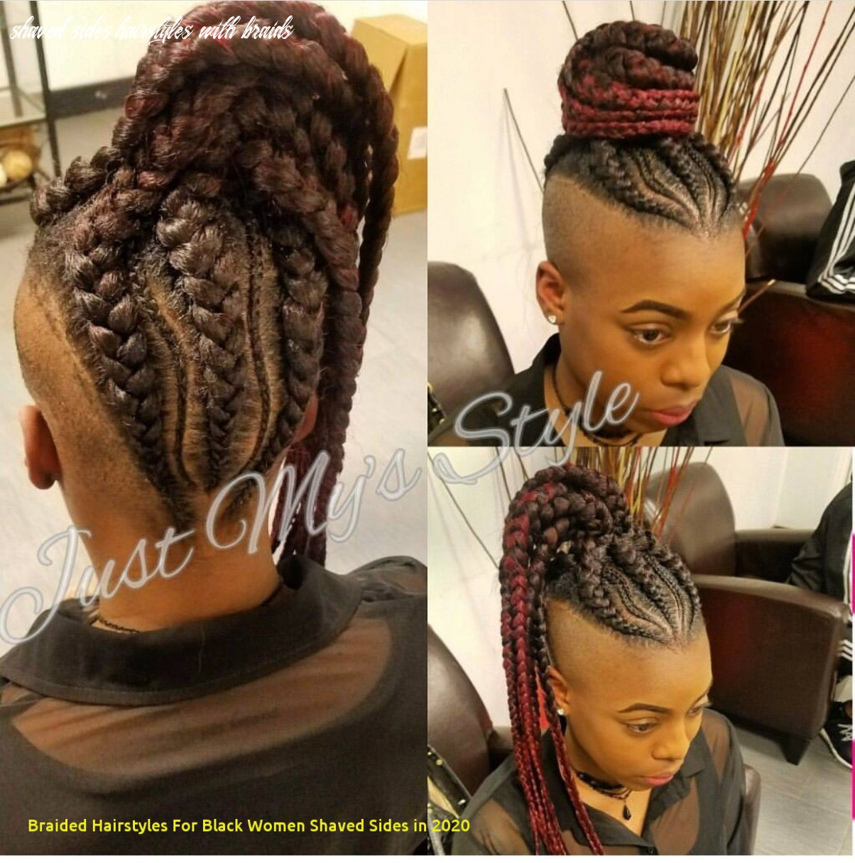 10 Awesome Braided Hairstyles for Black Women Shaved Sides In 10 ...