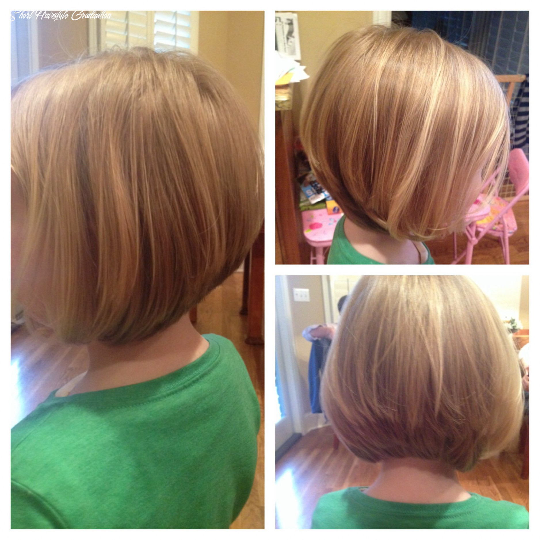 A fun graduation bob for finer hair, great for little girls that ...