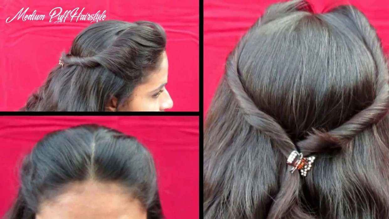 BOTH SIDE PUFF HAIRSTYLE || SIMPLE OUT GOING HAIRSTYLE || Puff Hairstyle  For Medium Hair