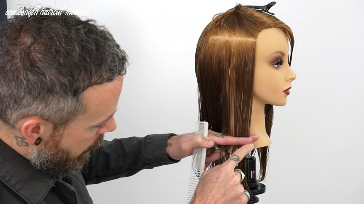 How To Hold Sections to Create a Consistent One Length Haircut