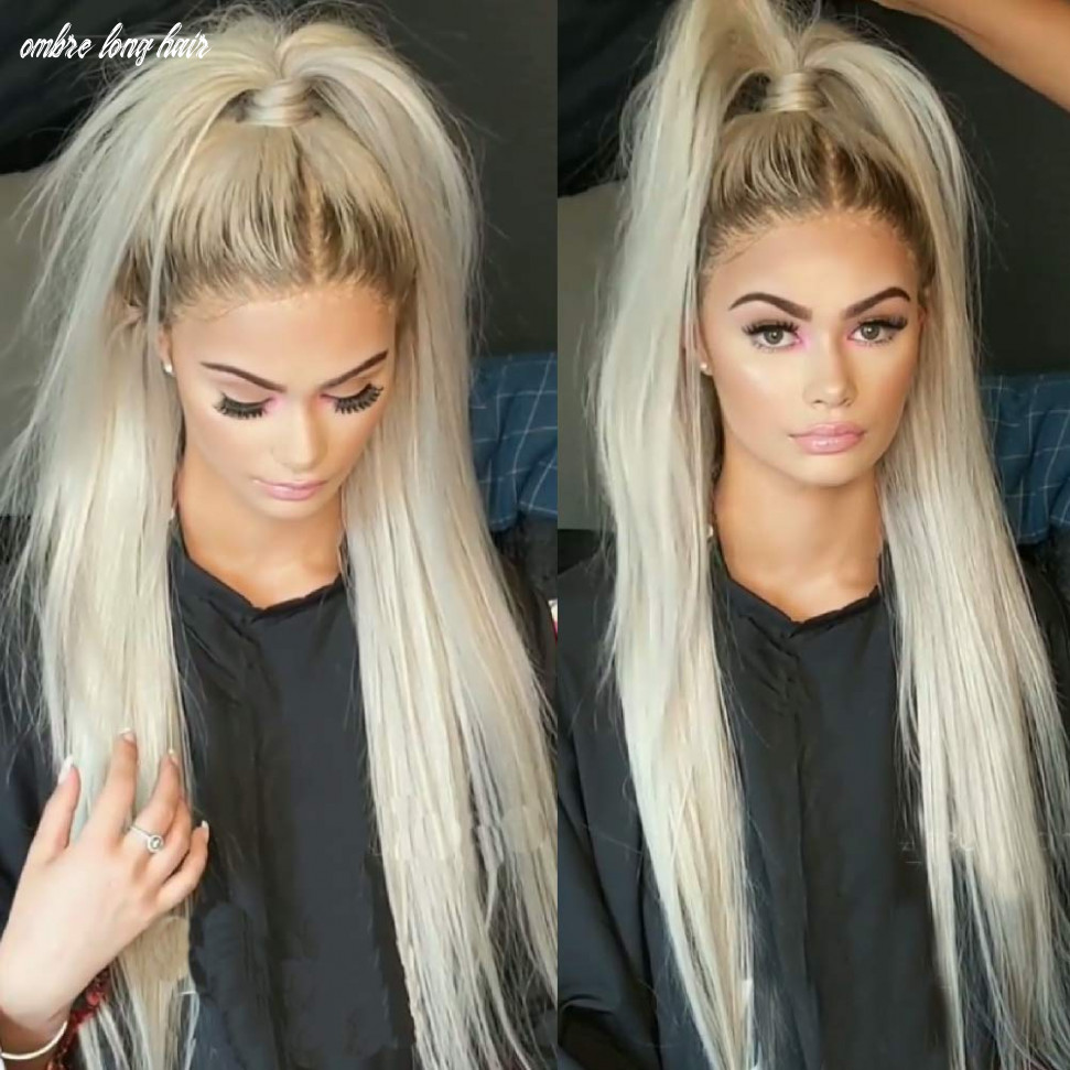 QDBOWIN QUEEN HAIR Ombre Blonde Lace Front Wigs for Fashion Women Long  Natural Straight Glueless Synthetic Hair Ash Ombre Thick Soft Synthetic  Front ...