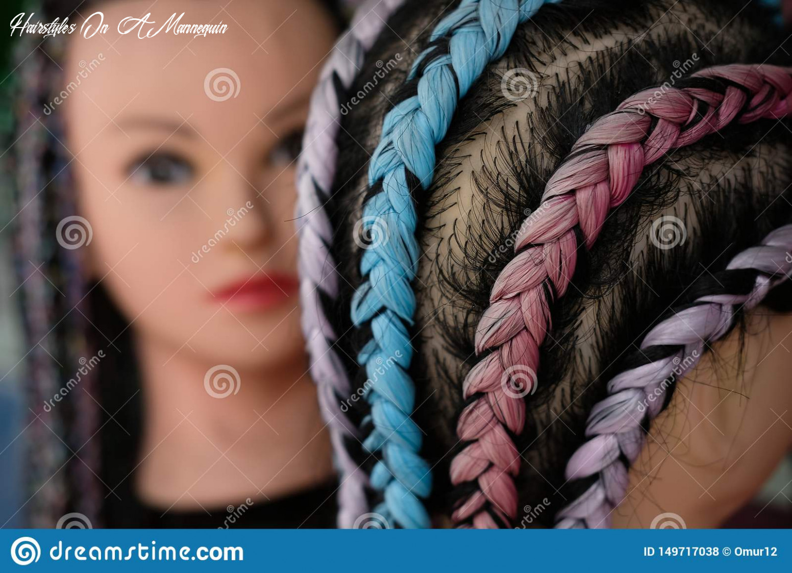Street Mannequin For Hairstyles And Braids Stock Photo - Image of ...