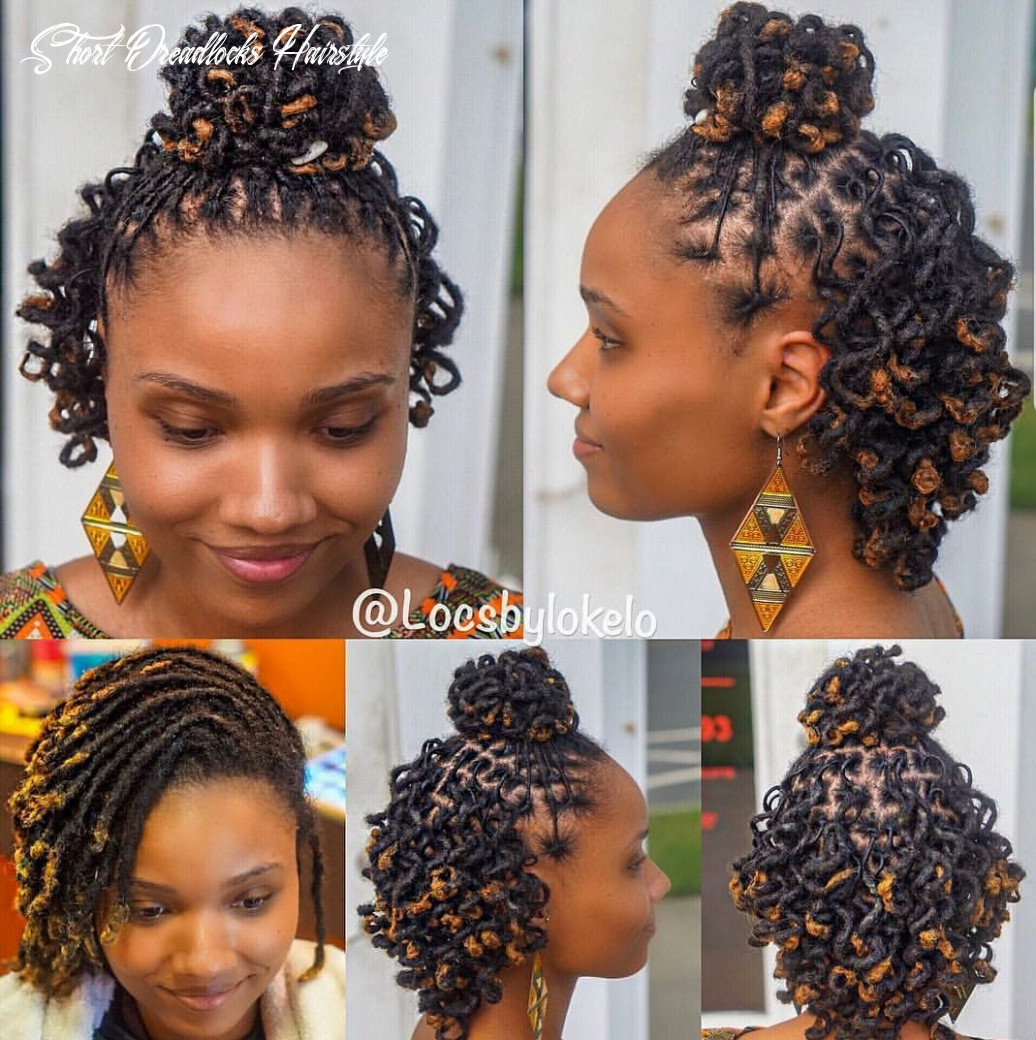 Who said short dreads can't be styled??   Short locs hairstyles ...
